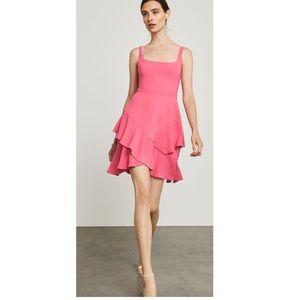 BCBGMaxazria | Asymmetric Ruffle hem dress